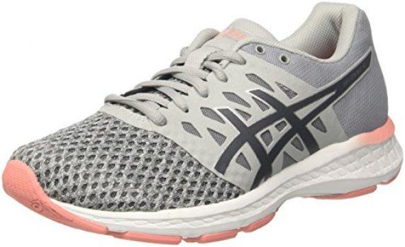 asics running gris mujer