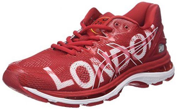 asics running hombre rojo