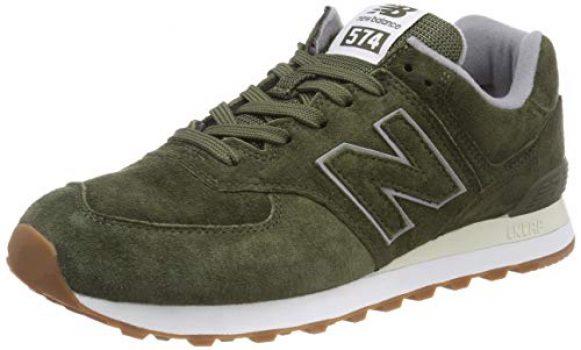 new balance 574 hombre verde